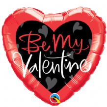 "Be My Valentine Script Foil Balloon (18"") 1pc"